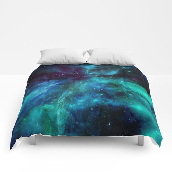 A Colorful Space Among The Stars Comforters