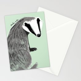 Adorable Badger ( Meles meles ) Stationery Cards
