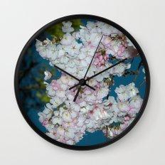 Underneath A Cherry Tree Wall Clock