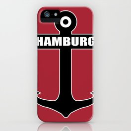 Hanseatic city of Hamburg anchor northern light gift iPhone Case