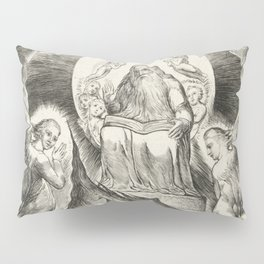 "William Blake ""The Book of Job Pl. 16, Thou hast fulfilled the judgment of the wicked"" Pillow Sham"