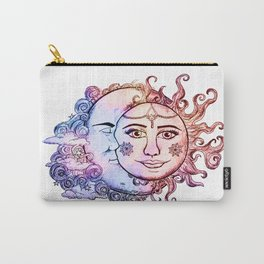 colored Sun and Moon Carry-All Pouch