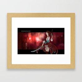 Kitsune the Red Framed Art Print