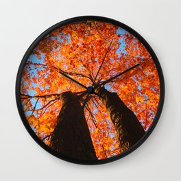 Flaming trees Wall Clock