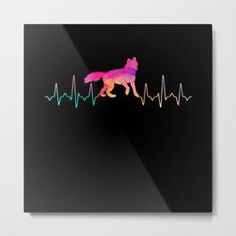 Fuchs Heartbeat Water Colors Metal Print