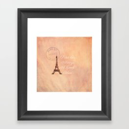 Vintage Paris is Always a Good Idea  Framed Art Print