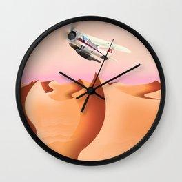 Gobi Desert Vintage travel poster. Wall Clock