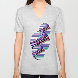 Melting Colors Of Summer Abstract Unisex V-Neck