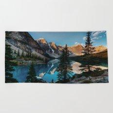 Moraine Lake Canada Beach Towel