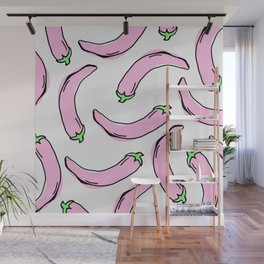 Pink Peppers Wall Mural