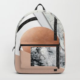 Collage II ( marble, copper, volcanic rock) Backpack
