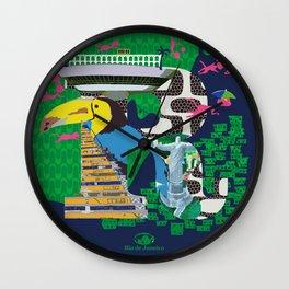 Mews in Rio de Janeiro (Typography) Wall Clock