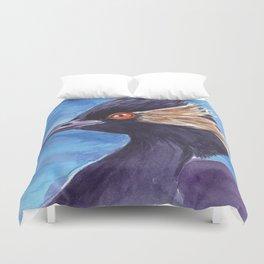 Grebe bird watercolor Duvet Cover
