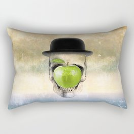 Magritte Skull Rectangular Pillow