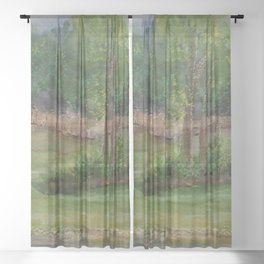 A Storm at The Strand MM151206f-13 Sheer Curtain