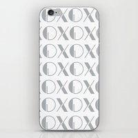 xoxo iPhone & iPod Skins featuring XOXO by Zen and Chic