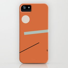 minimalist red #1 iPhone Case