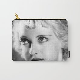 Bette Davis Eyes, Hollywood Starlet black and white photograph / black and white photography Carry-All Pouch
