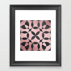 Rose Gold Slate Framed Art Print