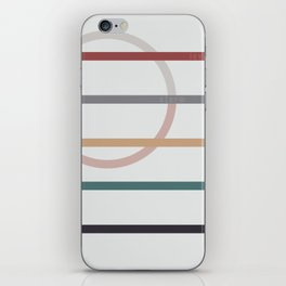 for Love || stripes & circle iPhone Skin