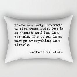 Albert Eintein Quote Rectangular Pillow