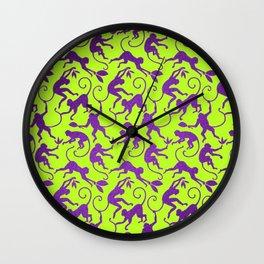 Happy Monkey's Wall Clock