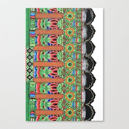 Temple Haeinsa eaves Canvas Print