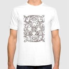 Tibetan Flower Mens Fitted Tee White MEDIUM