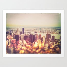 Buildings in New York City - Ektachrome and Bokehs Art Print