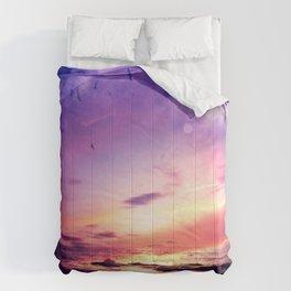 Neon Beach Comforters