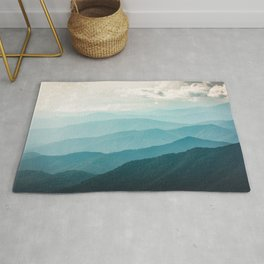 Turquoise Smoky Mountains - Wanderlust Nature Photography Rug