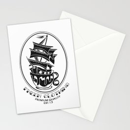 Fheen Ship Tea Cup  Stationery Cards