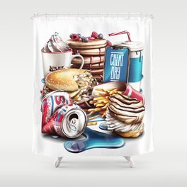 Cheat Day Shower Curtain