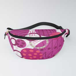 Pink Bubbles and Circles Pattern Fanny Pack