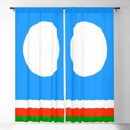 flag of Sakha or Yakutia Blackout Curtain