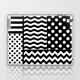 Mixed Patterns (Horizontal Stripes/Polka Dots/Wavy Stripes/Chevron/Checker) Laptop & iPad Skin