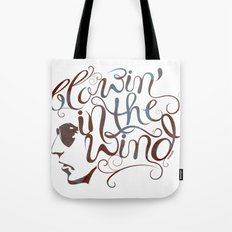 BOB DYLAN, BLOWIN' IN THE WIND Tote Bag