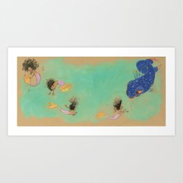 Julián and the Blue Fish Art Print
