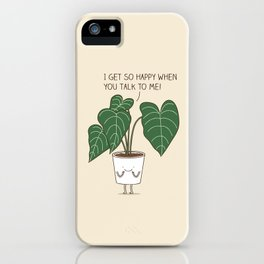 Plant talk iPhone Case