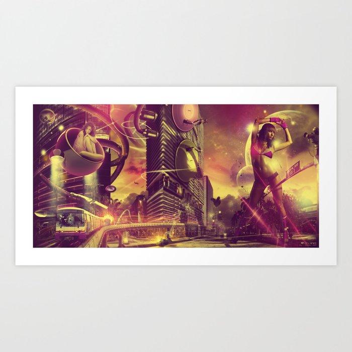 Cityshift Art Print