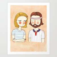 card Art Prints featuring Secretly In Love by Nan Lawson