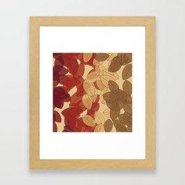Fallen Leaves Colors 2 Large Framed Art Print