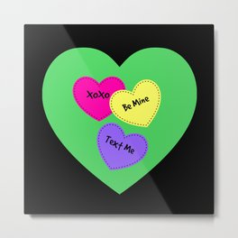 Be Mine Candy Heart Valentine Metal Print