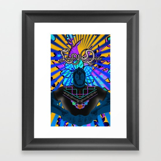 Lindo y Querido! mil mascaras Framed Art Print