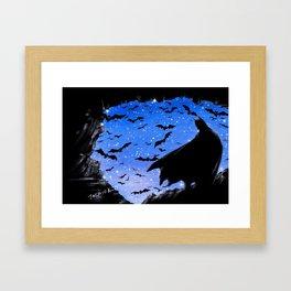 Batmaninthe Batcave Framed Art Print