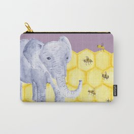 Elephant & Bees Carry-All Pouch