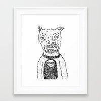 satan Framed Art Prints featuring Satan by SECRET EYE