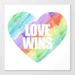 Love Wins Gay Lesbian Rainbow CSD Gift Canvas Print