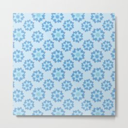 ENLIGHTENED Lotus Pattern Metal Print