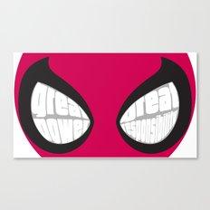 Spider-man Eyes Canvas Print